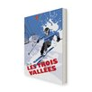 Star Editions Leinwandbild Ski in Les Trois Vallees von Dave Thompson, Retro-Werbung
