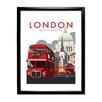 Star Editions Gerahmtes Poster London Routemaster von Dave Thompson, Retro-Werbung