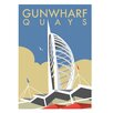 Star Editions Gunwharf Quays, Portsmouth by Dave Thompson Vintage Advertisement