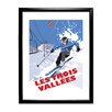 Star Editions Ski in Les Trois Vallees by Dave Thompson Framed Vintage Advertisement