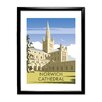 Star Editions Norwich Cathedral, Norfolk by Dave Thompson Framed Vintage Advertisement