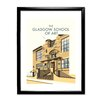 Star Editions The Glasgow School of Art, Mackintosh Building by Dave Thompson Framed Vintage Advertisement