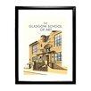 Star Editions Gerahmtes Poster The Glasgow School of Art, Mackintosh Building von Dave Thompson, Retro-Werbung