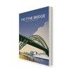 "Star Editions Leinwandbild ""The Tyne Bridge, Newcastle Upon Tyne"" von Dave Thompson, Retro-Werbung"