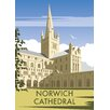 Star Editions Norwich Cathedral, Norfolk by Dave Thompson Vintage Advertisement