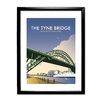 "Star Editions Gerahmtes Poster ""The Tyne Bridge, Newcastle Upon Tyne"" von Dave Thompson, Retro-Werbung"