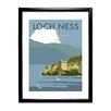 Star Editions Gerahmtes Poster Loch Ness von Dave Thompson, Retro-Werbung