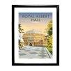 "Star Editions Gerahmtes Poster ""Royal Albert Hall, London"" von Dave Thompson, Retro-Werbung"
