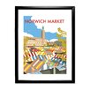 Star Editions Norwich Market, Norfolk by Dave Thompson Framed Vintage Advertisement