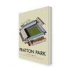 Star Editions Fratton Park, Home of Portsmouth FC by Dave Thompson Vintage Advertisement Wrapped on Canvas
