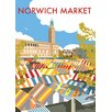 Star Editions Norwich Market, Norfolk by Dave Thompson Vintage Advertisement