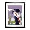 Star Editions Gerahmtes Wandbild London Art Deco von Dave Thompson