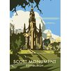 Star Editions Scott Monument, Edinburgh by Dave Thompson Vintage Advertisement Plaque