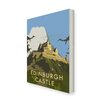 Star Editions Edinburgh Castle by Dave Thompson Vintage Advertisement Wrapped on Canvas