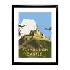 Star Editions Edinburgh Castle by Dave Thompson Framed Vintage Advertisement