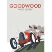 """Star Editions Poster """"Goodwood, West Sussex"""" von Dave Thompson, Retro-Werbung"""