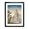 Star Editions The University of Manchester by Dave Thompson Framed Vintage Advertisement
