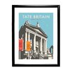 Star Editions Tate Britain by Dave Thompson Framed Vintage Advertisement