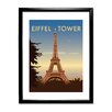 Star Editions The Eiffel Tower, Paris by Dave Thompson Framed Vintage Advertisement