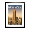 Star Editions New York Skyline by Dave Thompson Framed Vintage Advertisement