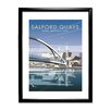 Star Editions Salford Quays, Greater Manchester by Dave Thompson Framed Vintage Advertisement