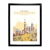 Star Editions The Royal Observatory, Greenwich by Dave Thompson Framed Vintage Advertisement