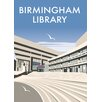 Star Editions Birmingham Central Library by Dave Thompson Vintage Advertisement
