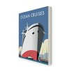 Star Editions Ocean Cruises by Dave Thompson Vintage Advertisement Wrapped on Canvas