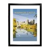 Star Editions Warwick Castle by Dave Thompson Framed Vintage Advertisement