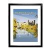 Star Editions Gerahmtes Poster Warwick Castle von Dave Thompson, Retro-Werbung
