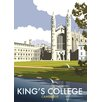 Star Editions King's College, Cambridge by Dave Thompson Vintage Advertisement