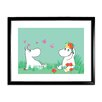 Star Editions Moomins Snorkmaiden and Moomintroll by Tove Jansson Framed Graphic Art
