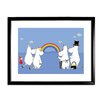 Star Editions Moomins The Moomins look at a Rainbow by Tove Jansson Framed Graphic Art