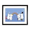 Star Editions Gerahmtes Poster Moomins The Moomins look at a Rainbow von Tove Jansson, Grafikdruck