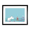 Star Editions Moomins Moomintroll is told off by Little My Framed Graphic Art