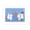 Star Editions Moomins look at a Rainbow by Tove Jansson Graphic Art