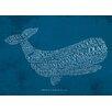 Star Editions Poster Classic Book Art Moby Dick von Herman Melville, Typografische Kunst
