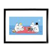 Star Editions Moomins the Moomins have a Picnic by Tove Jansson Framed Graphic Art