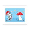 Star Editions Moomins Moomintroll and Moominmamma in The Rain by Tove Jansson Graphic Art