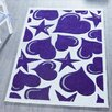 Relita Purple/White Children's Area Rug