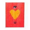 """Holly & Martin Swoon Wall Panel """"Eye Heart U"""" Painting Print Plaque"""