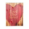 """Holly & Martin Swoon """"Feel The Love"""" Textual Art Plaque"""