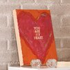 """Holly & Martin Swoon Wall Panel """"You Are My Heart"""" Painting Print Plaque"""