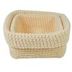 Jocca 2 Piece Crochet Storage Basket Set