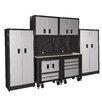 International 7' H x 10' W x 2' D 10-Piece Garage Storage Cabinet