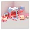 Le Toy Van Bubblegum Dollhouse Kid's Room Set