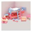 Le Toy Van Bubblegum Dollhouse Kid's Room Set