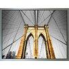 Benjamin Parker Galleries Brooklyn Bridge Strong Framed Photographic Print on Canvas
