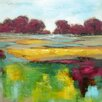 Benjamin Parker Galleries Colorful Countryside Original Painting on Wrapped Canvas