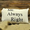 Geko Products Mr Always Right Scatter Cushion